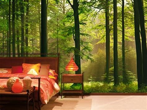 Rainforest Bedroom Rainforest Bedroom Forest Bedroom Wallpaper | autumn forest 8 sheet woodland wall mural buy online