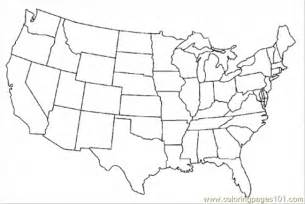 coloring pages map of united states of america education