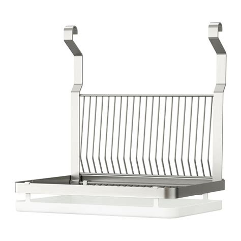 Dish Rack Hanging by New Ikea Grundtal Hanging Stainless Steel Dish Drainer With Drip Tray Ebay