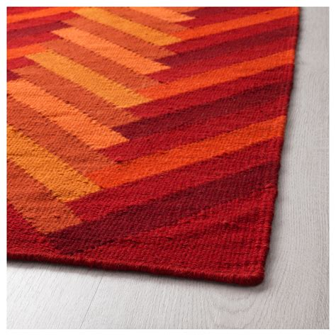 orange patterned rug stockholm 2017 rug flatwoven handmade zigzag pattern orange 170x240 cm ikea