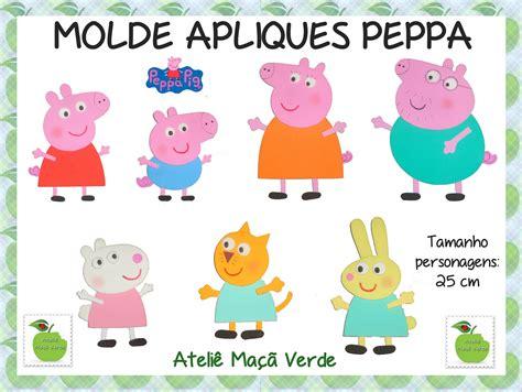 www peppa molde painel e decora 231 227 o peppa pig ateli 234 ma 231 227 verde elo7