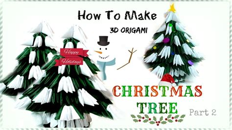 how to make an origami tree in 3d how to make 3d origami tree