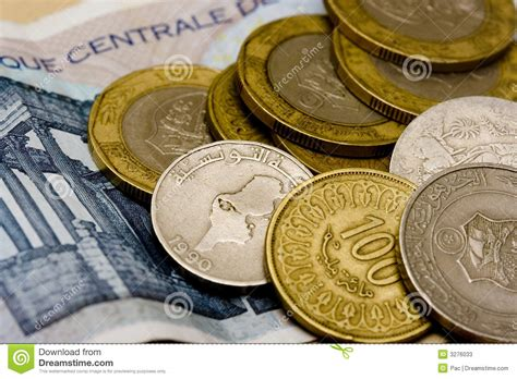 Blus Dinar dinars tunisiens photos stock image 3276033