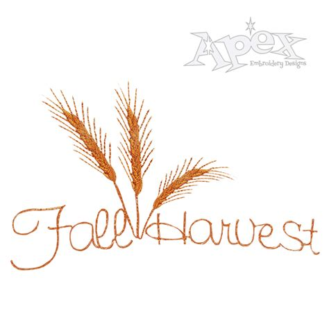 embroidery design wheat wheat embroidery design