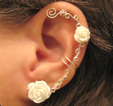 ear piercing ideas tumblr cartilage ear cuff wedding prom bridal no piercing