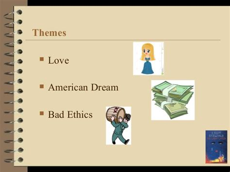 themes of great gatsby american dream the great gatsby presentation