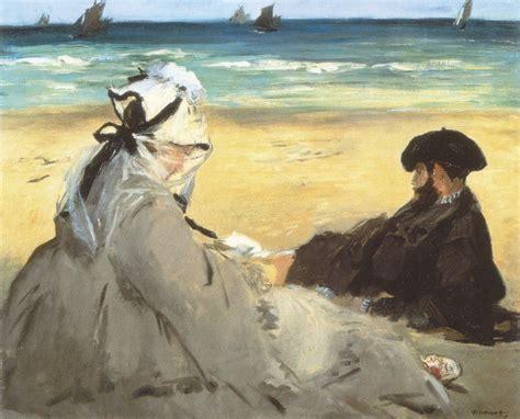 sulla spiaggia sulla spiaggia quadro di manet