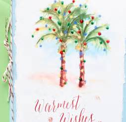 Nautical Themed Parties - palm tree christmas cards mospens studio