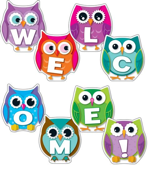 8 Ideas For An Owl You Wedding by Colorful Owl Welcome Bulletin Board Set Grade Pk 8