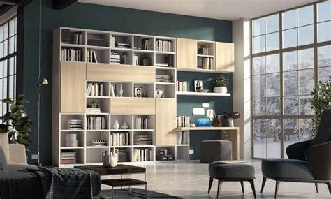 giessegi librerie soggiorno libreria componibile con ante e vani a giorno