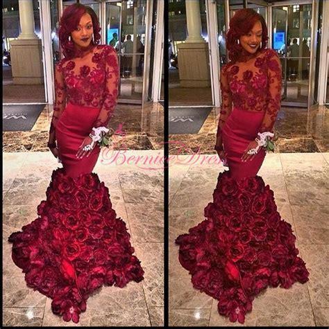 Purple Flower Split Dress 9144 backless mermaid burgundy flower prom dresses custom