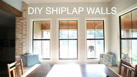 How To Do Shiplap On Walls Diy Shiplap Wall How To
