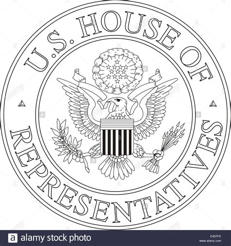 house of representatives seal united states house of representatives seal stock photo royalty free image 54205422