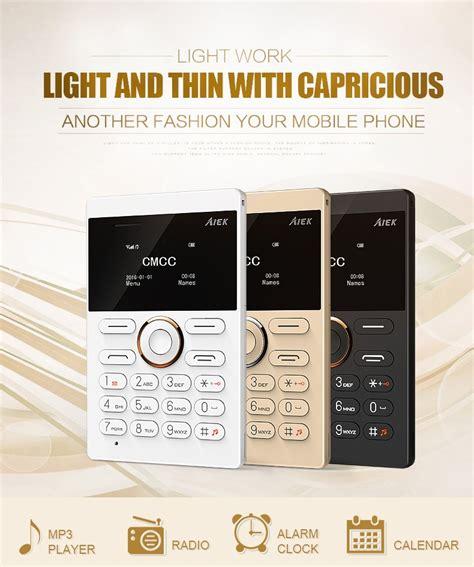 Ifcane E1 Card Phone Ultra Thin aiek e1 1 inch ultra thin micro sim card bluetooth gsm