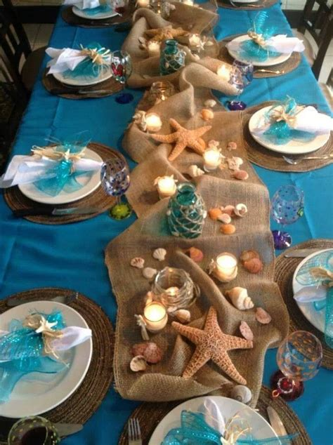 beach wedding reception table decorations long hairstyles