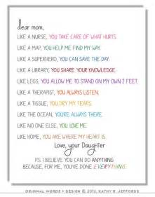 Appreciation Letter To Mother Gallery For Gt We Love You Mom Poems