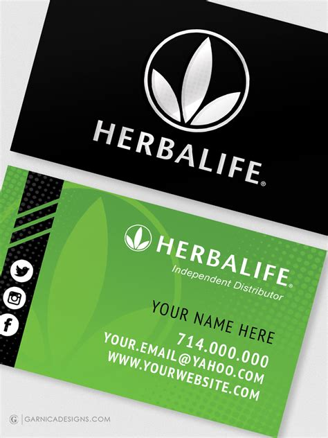 herbalife business card templates herbalife business card