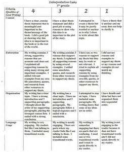 Compare And Contrast Essay Exle For Middle School by Compare And Contrast Essay Rubric For Middle School