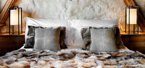 chambre fourrure chalet cosy neve design