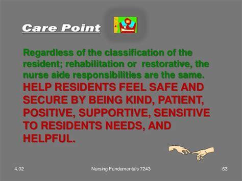 Restorative Nursing Assistant Description by 4 02 Ppt Rehab Restore Maintenance Care