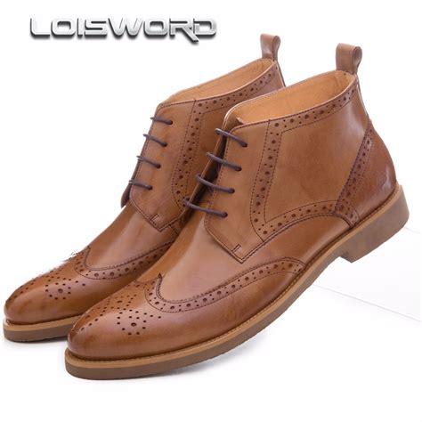mens brown fashion boots aliexpress buy fashion black brown oxfords shoes