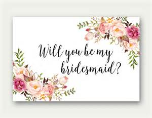 Will You Be My Of Honor Template by Will You Be My Bridesmaid Printable Bridesmaid Card