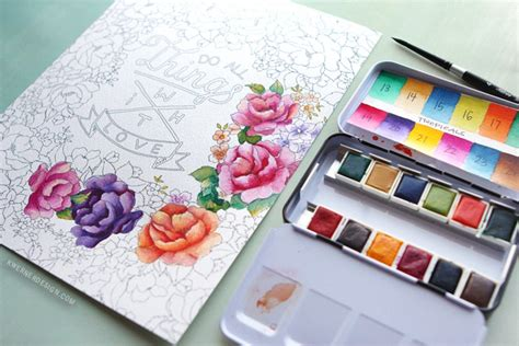 new watercolor pan sets from prima coloring book review kwernerdesign