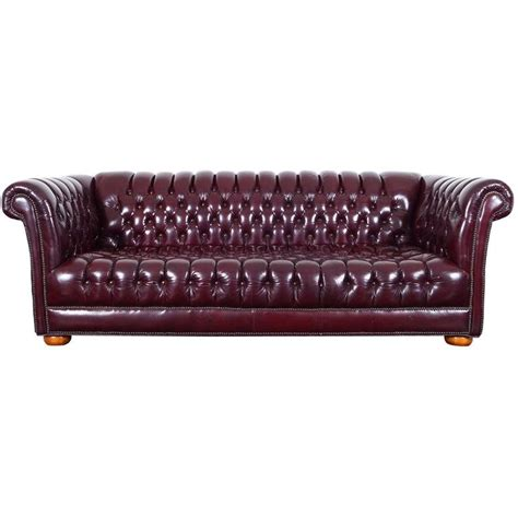 burgundy chesterfield sofa vintage burgundy leather chesterfield sofa for sale at 1stdibs