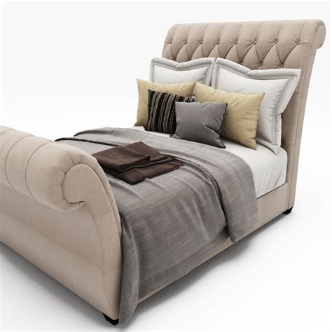 tufted sleigh bed waverly taupe king upholstered sleigh bed with button