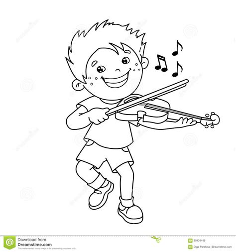 playing violin coloring page coloring page outline of cartoon boy playing the violin