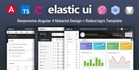 Elastic Ui Angular 4 Material Design Redux Ngrx Admin Template Nulled Download Angular Ui Templates