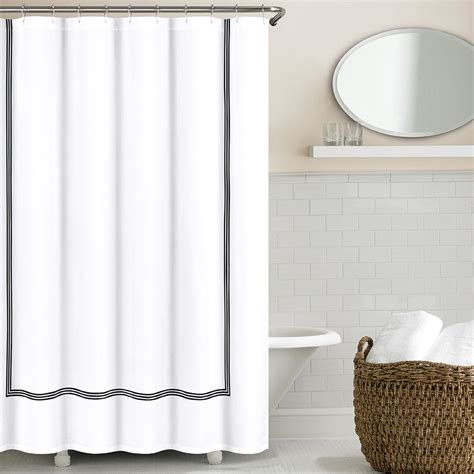 hotel style shower curtain 3 line hotel collection shower curtains echelonhome