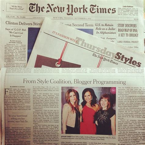 Fashion Pulse Daily As Featured The New York Times Style