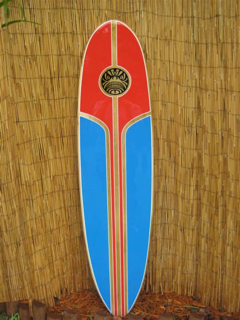 tropical decorative wooden surfboard wall for a tiki