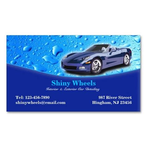 car detailing business card template 273 best auto detailing business cards images on