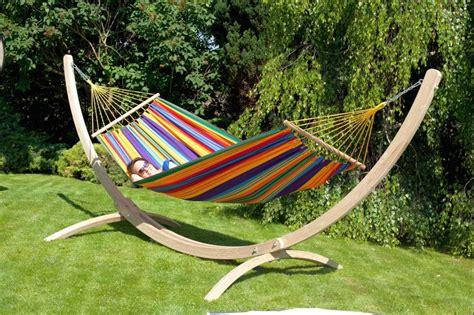 garten hängesessel mit gestell siesta grande hammock stand macamex