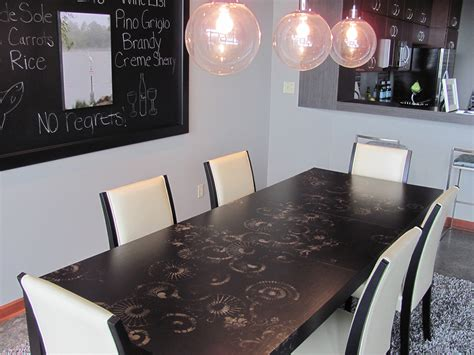 Stenciled Dining Room Table Stenciled Dining Room Table