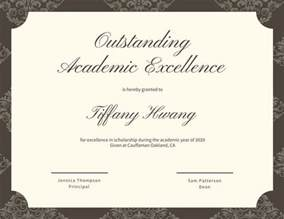 Academic Certificate Templates by Academic Certificate Templates Canva