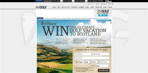 Golf Trip Sweepstakes - golfchannel com scotland golf channel s visit scotland sweepstakes win the