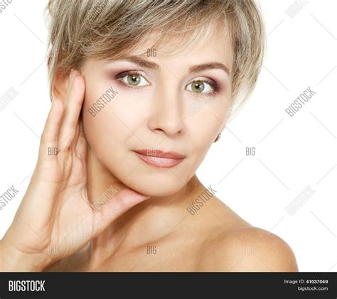 faces of 40 year old woman attractive mid adult woman female image photo bigstock