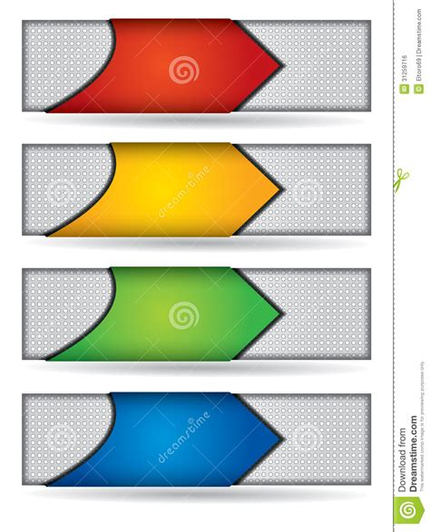 website header design header or banner design set stock vector illustration