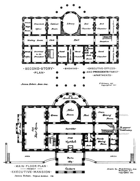 The White House Floor Plan by Residence White House Museum