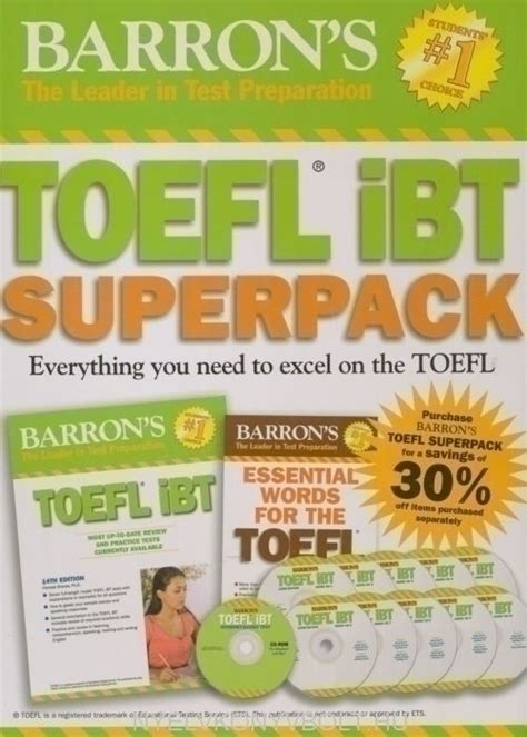 Barrons Toefl Ibt Based Test Edisi 12 Plus Cd Rom Buku Bah barron s toefl ibt superpack 2nd edition nyelvk 246 nyv forgalmaz 225 s nyelvk 246 nyvbolt nyelvk 246 nyv