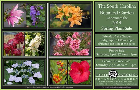 Spring Plant Sale To Be April 11 12 At The S C Botanical Botanical Gardens Plant Sale