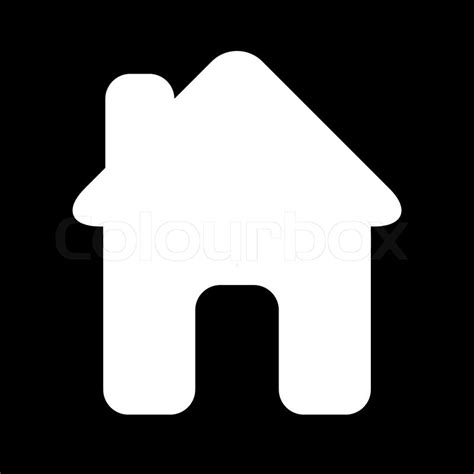 haus icon icon house black white stock vector colourbox