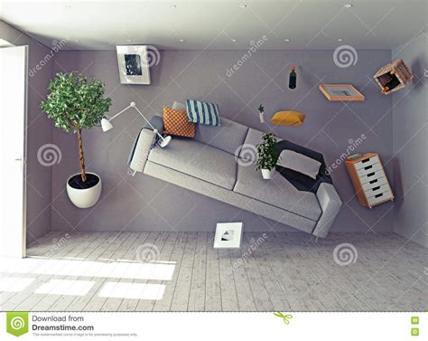 room with no gravity zero gravity interior stock illustration image 56906372