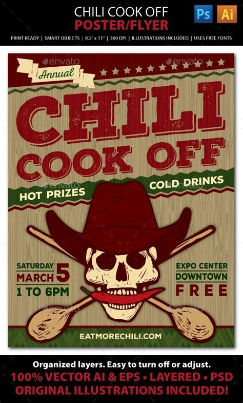 Chili Cook Off Competition Poster Flyer Or Ad Chili Cook Off Chili And Need To Chili Cook Flyer Template Free