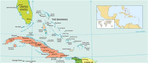 map of usa and bahamas political map of bahamas bahamas political map