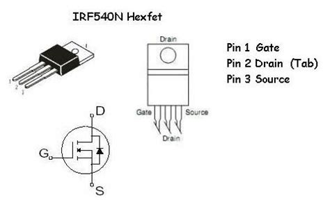 transistor mosfet irf540n irf540n hexfet info electrocave