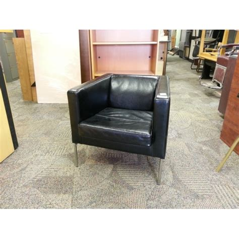 ikea black leather chair ikea klappsta black leather arm chair with chrome base